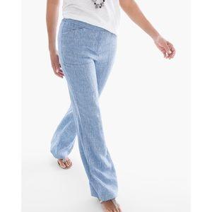 New!! Chico's Linen Wide Leg Pants!! Size 0